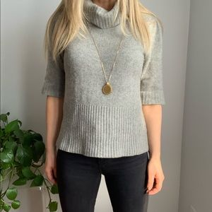 Theory cashmere sweater L large gray